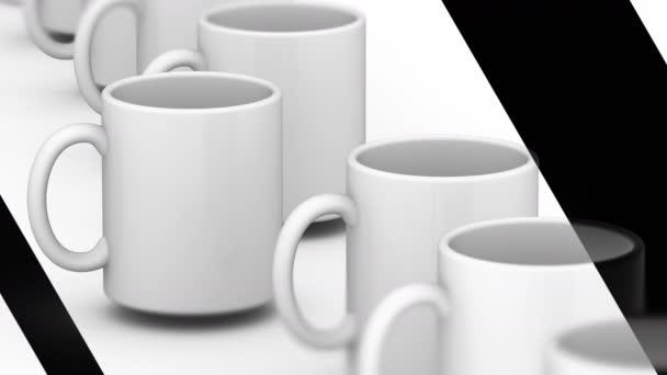 Mug. Looping footage has 4K resolution. Prores 4444.