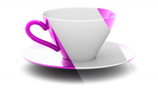 Cup. Looping footage has 4K resolution. Prores 4444.