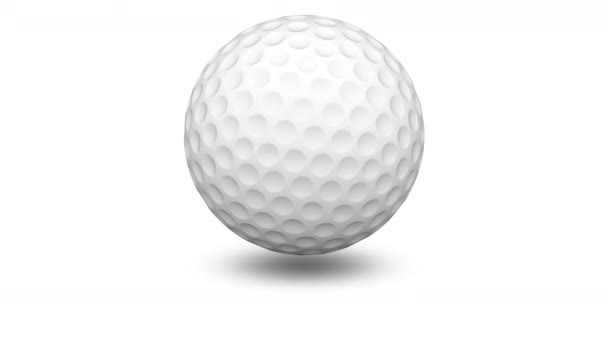 Golfball. Looping footage has 4K resolution. Prores 4444.