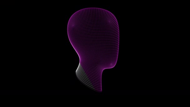 The head. Looping footage has 4K resolution. Prores 4444.