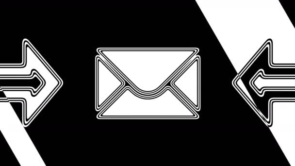 The e-mail icon. Looping footage has 4K resolution. Illustration.