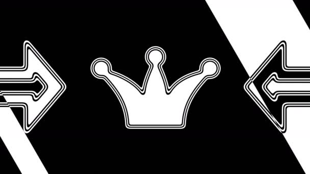 The crown icon. Looping footage has 4K resolution. Illustration.