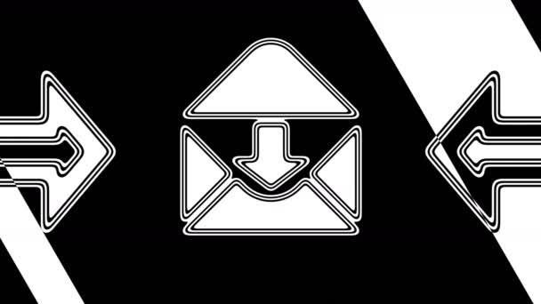 Az e-mail ikont. A hurkolás felvétel 4k felbontású. Illusztráció.