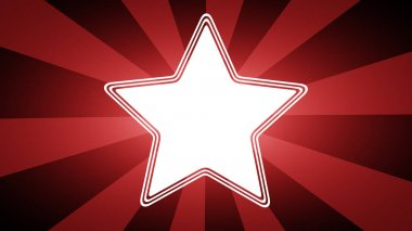 Star icon in red background.