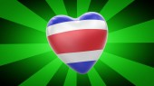 Fotografie Flag of Costa Rica in green striped background. 3D Illustration.