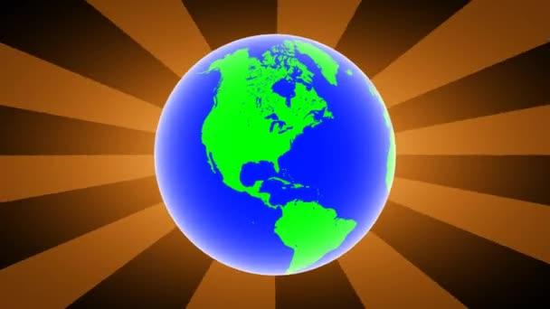 Globus auf braunem Hintergrund