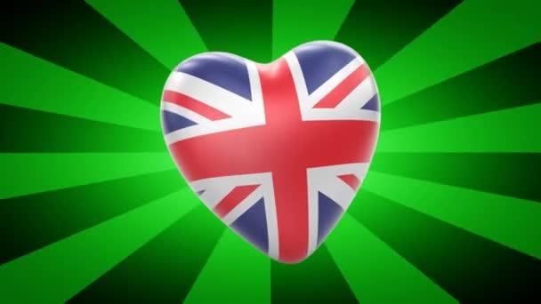 Nagy-britanniai zászló alakja szív