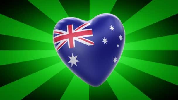 Australia flag in shape of heart