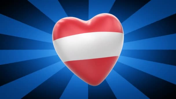 Austria flag in shape of heart