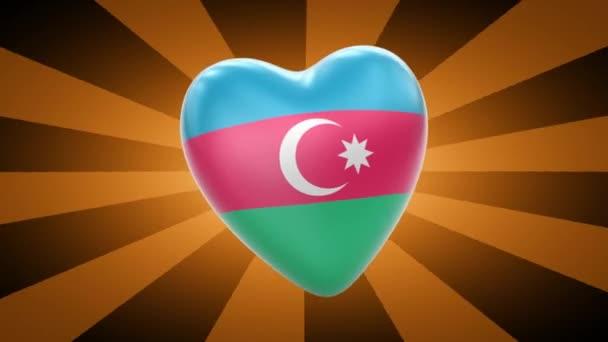 Azerbaijan flag in shape of heart
