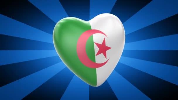 Algeria flag in shape of heart