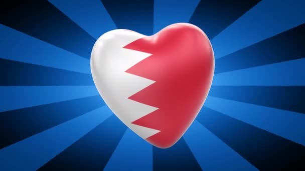 Bahrain flag in shape of heart