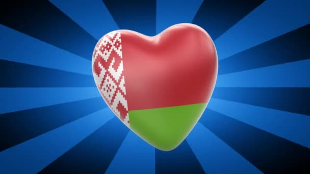 Belarus flag in shape of heart