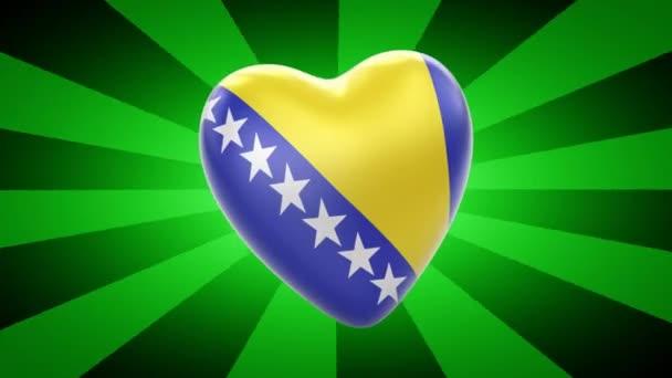 Bosnia and Herzegovina flag in shape of heart