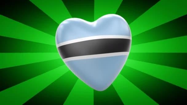 Botswana flag in shape of heart