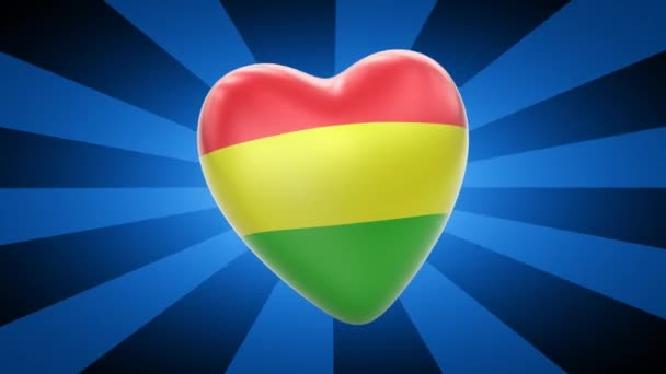Bolivia flag in shape of heart
