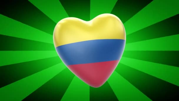 Colombia flag in shape of heart