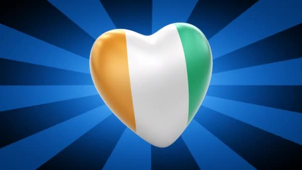 Ivory Coast flag in shape of heart