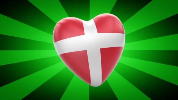 Denmark flag in shape of heart