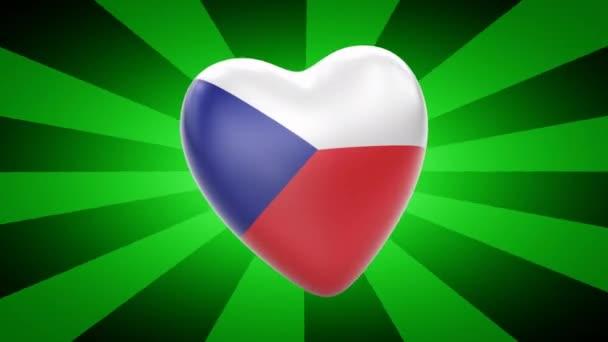 Czech Republic flag in shape of heart
