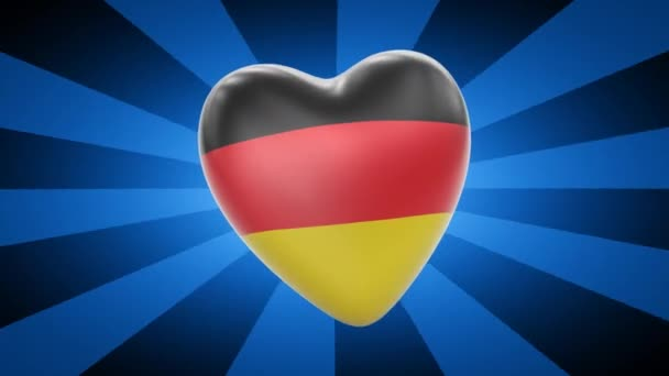 Germany flag in shape of heart