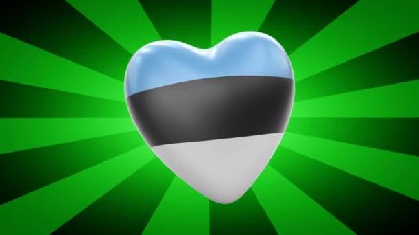 Estonia flag in shape of heart