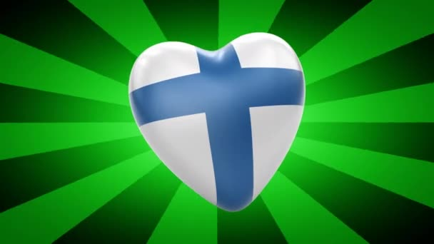 Finland flag in shape of heart