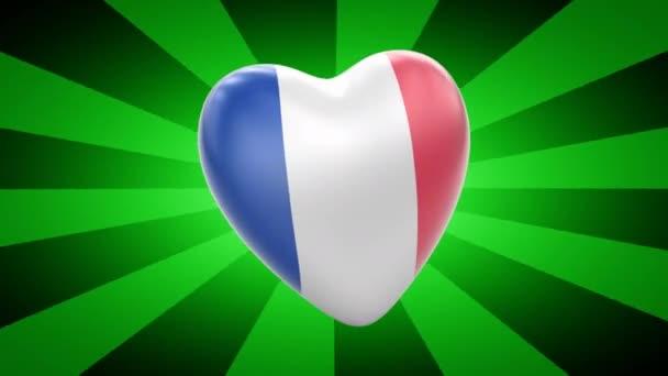 France flag in shape of heart