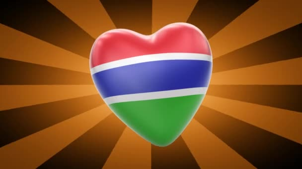 Republic of The Gambia flag in shape of heart