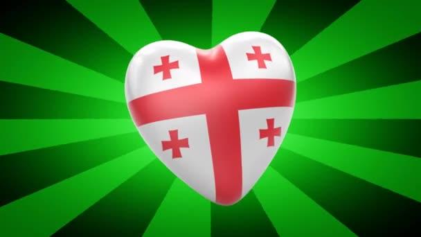 Georgia flag in shape of heart