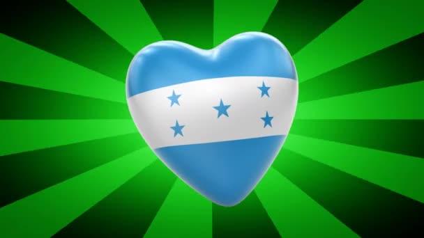 Honduras flag in shape of heart