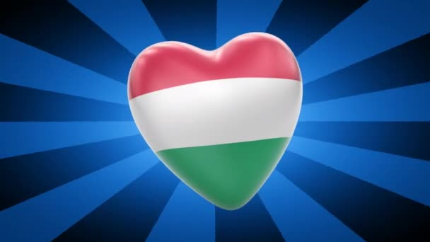 Hungary flag in shape of heart