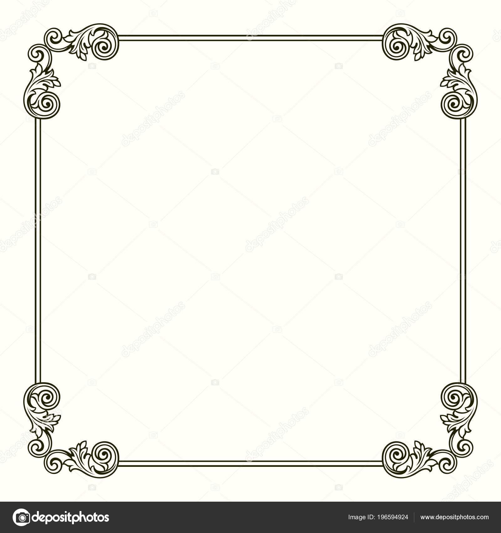 Frame Decorative Corners Stock Vector Denbarbulat 196594924