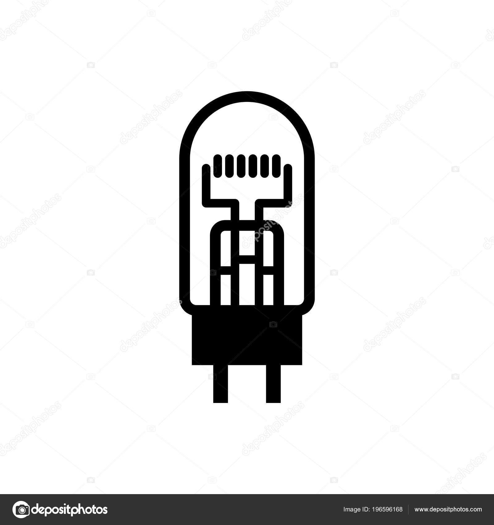 Eisen Wasserstoff Widerstand Barretter Symbol — Stockvektor © Den ...