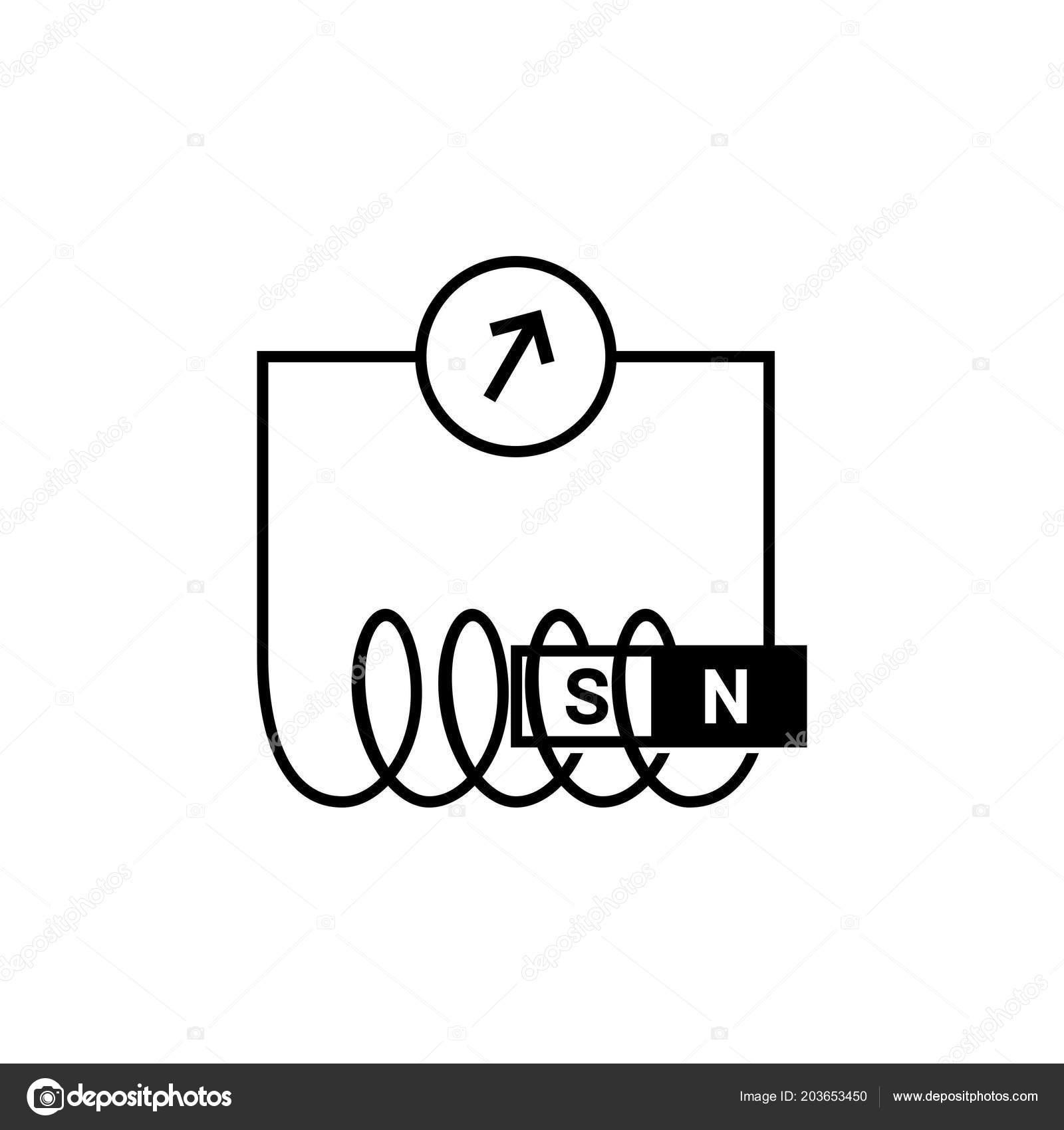diagram electromagnetic induction stock vector den. Black Bedroom Furniture Sets. Home Design Ideas