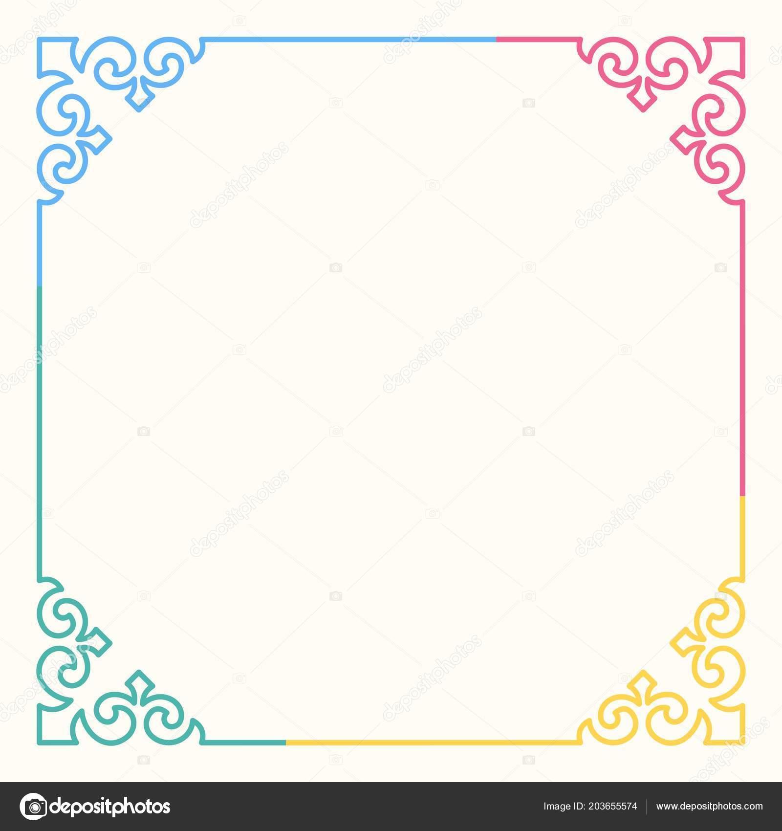Vector Frame Decorative Corners Stock Vector Denbarbulat 203655574