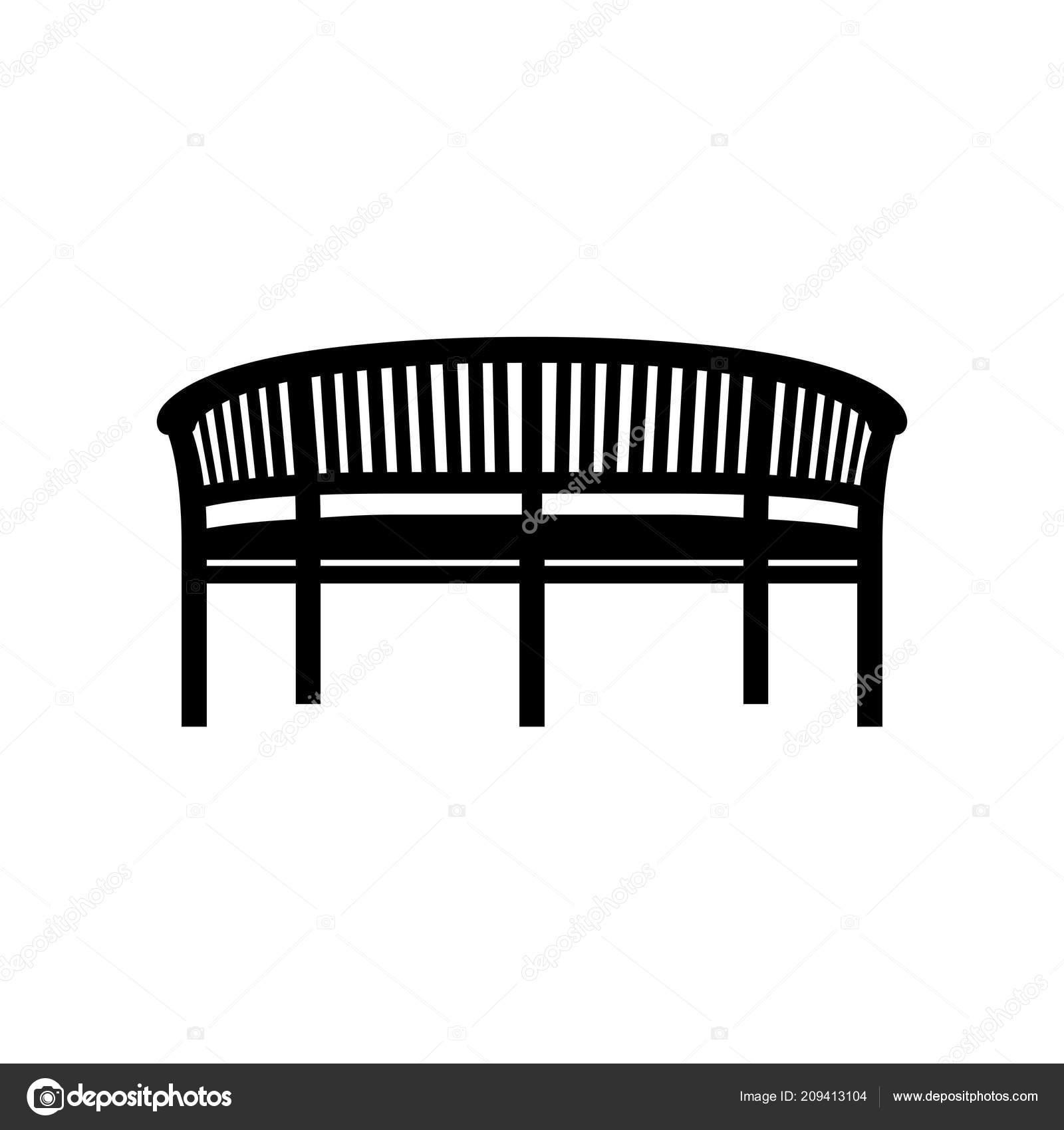 Heavy Duty Counter Stools, Garden Bench Icon Shade Picture Stock Vector C Den Barbulat 209413104