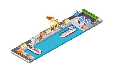 Port cargo ship transport logistics