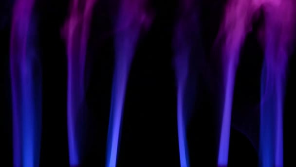 Abstract Red And Blue Smoke Blow Out And Mixing At Dark Background