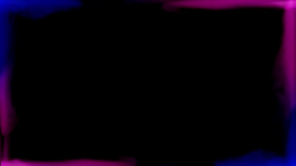 Abstract Red And Blue Smoke Blow Out Mixing And Create Frame At Dark Background