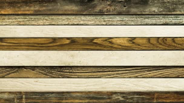 horizontální dřevěné prkna pohybující se v opačném dirrections s oddělující dvě prkna