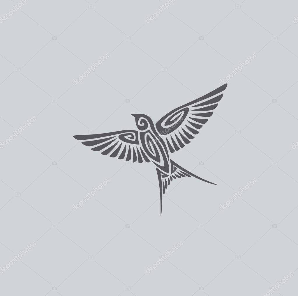 the figure shows a bird swallow logo premium vector in adobe illustrator ai ai format encapsulated postscript eps eps format wdrfree