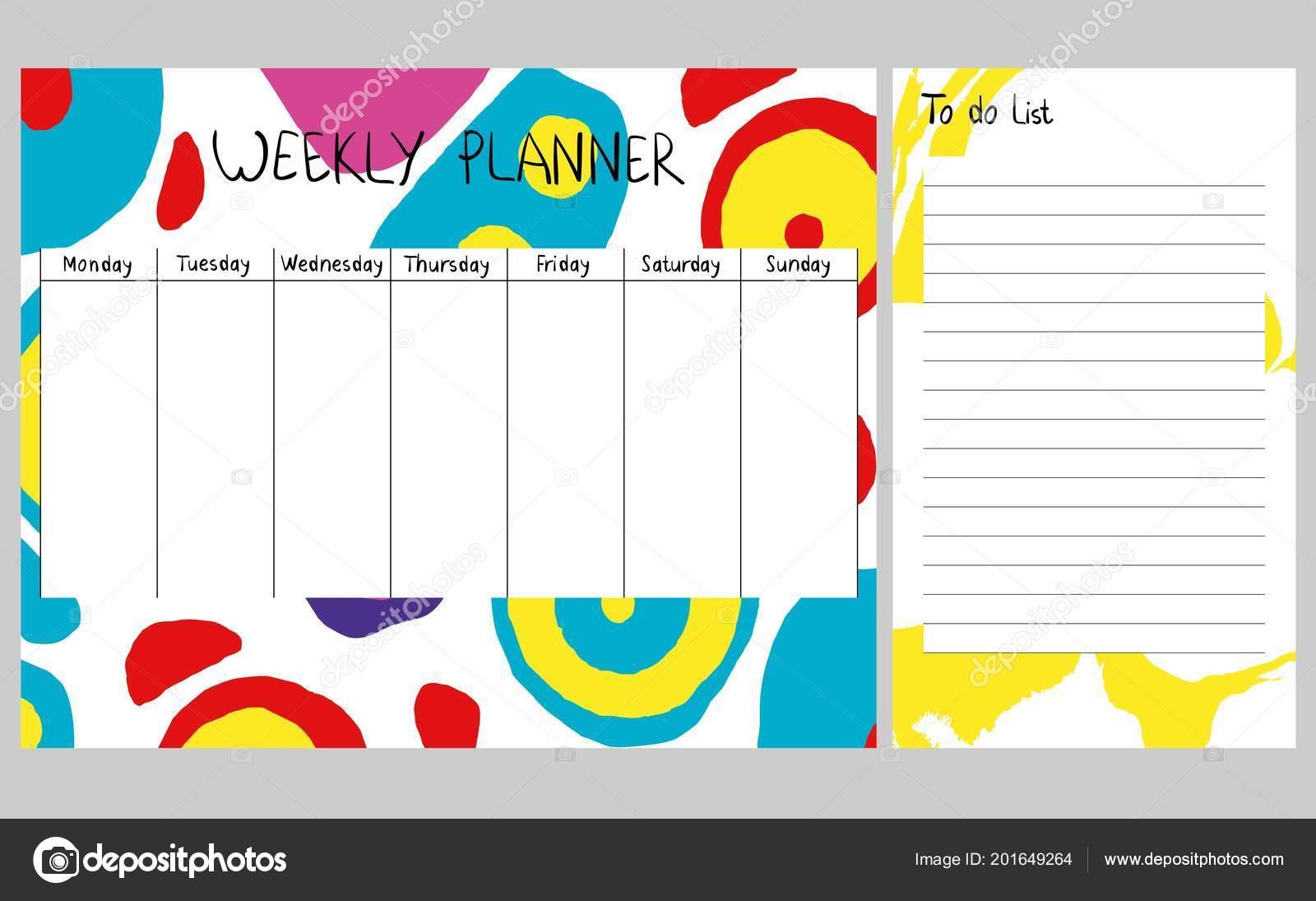 Planificador semanal Resumen — Archivo Imágenes Vectoriales © pilipa ...
