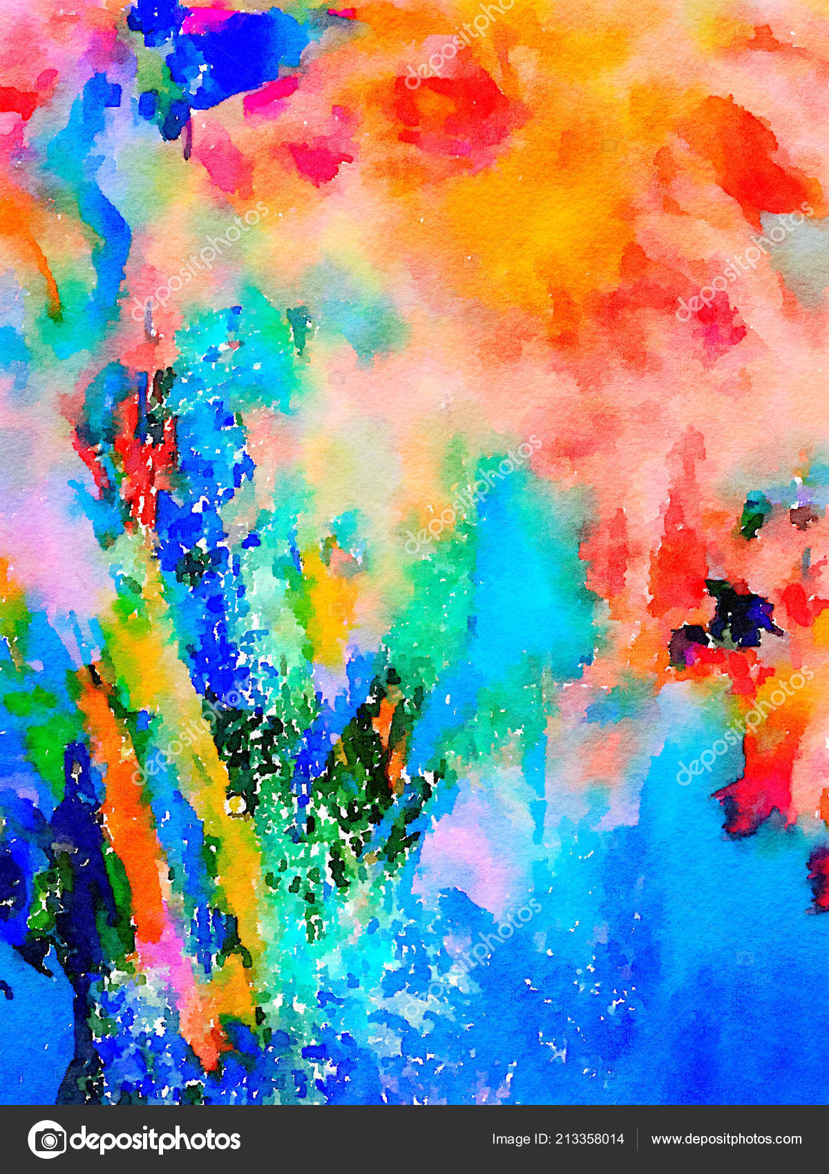 96388ced778e9 Watercolor painting abstract | Image Original Abstract Watercolor ...