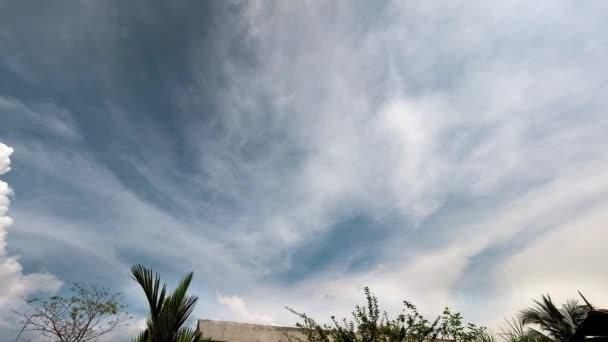 oblačná tropická obloha ve 4k