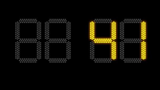 Új év koncepció elektronikus scoreboard részére 2019