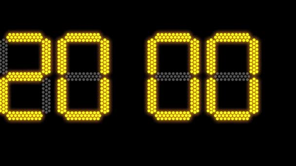 Új év 2020 koncepció az elektronikus vezérelt óráról