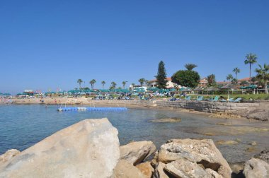The beautiful Olympic Lagoon Resort Beach Pafos in Cyprus
