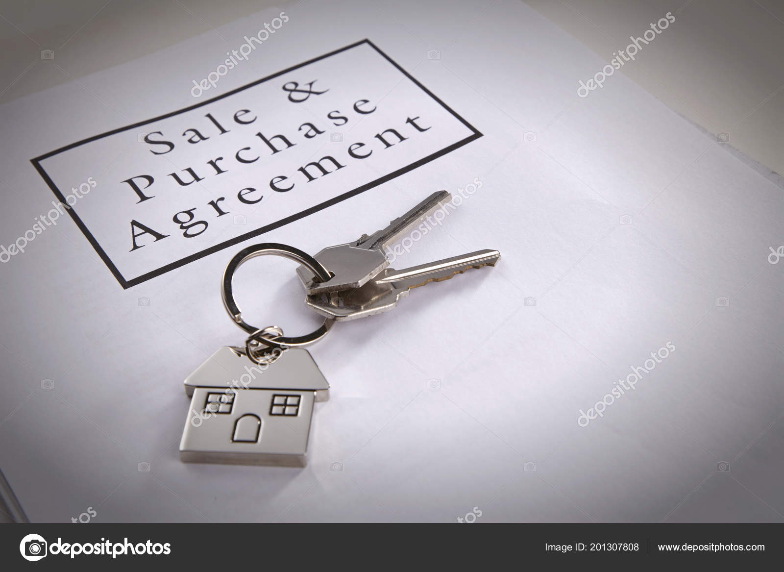 Mortgage Loan Agreement Application House Shaped Key Ring Stock