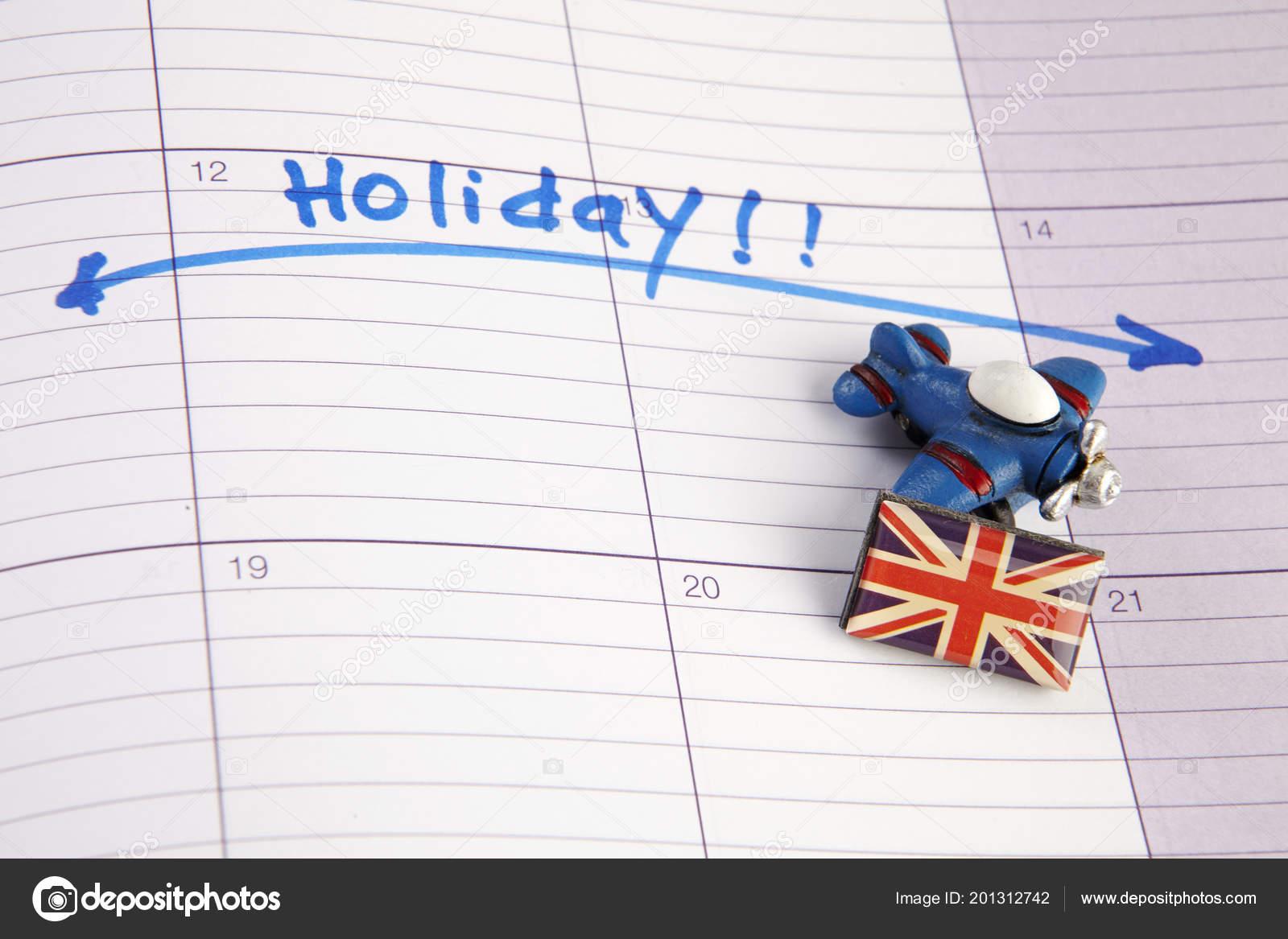 Calendrier Rendez Vous.Vacances Marquees Ecrite Dans Calendrier Rendez Vous